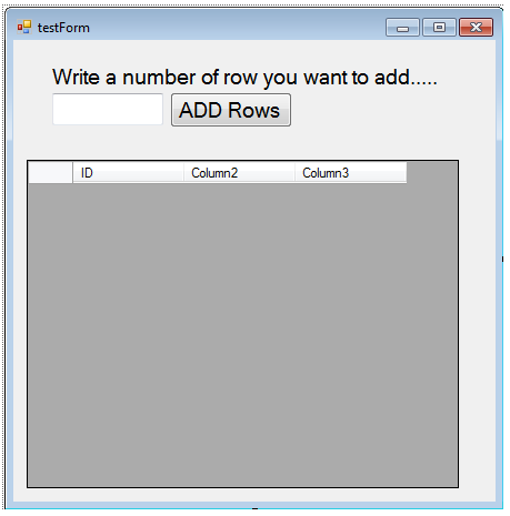 vb net - How to Add rows in DataGridView using loop     [SOLVED