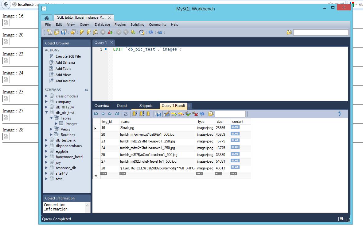 php - Blob data from mysql database wont display      | DaniWeb