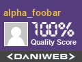 alpha_foobar has contributed to our community