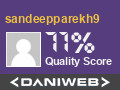 sandeepparekh9 has contributed to DaniWeb