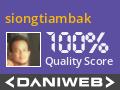 siongtiambak Contributes to DaniWeb