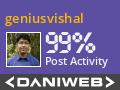 geniusvishal Contributes to DaniWeb