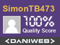 SimonTB473 Contributes to DaniWeb
